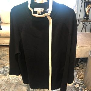 St John asymmetric knit jacket